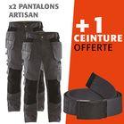 Lot 2 pantalons artisan 1555 + 1 ceinture offerte