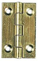 Charnière rectangulaire simple feuille laiton poli