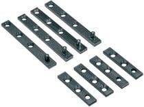 Garniture pivot pour le ferrage de 2 portes acier