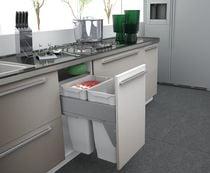 Poubelle coulissante suspendue 70 litres Pour meuble de 500 mm