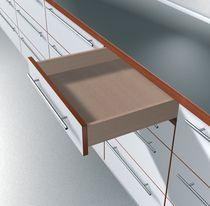 Coulisse invisible pour tiroir bois sortie partielle charge 30 kg avec amortisseur blumotion integré