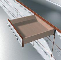 Coulisse invisible pour tiroir bois sortie totale charge 50 kg avec amortisseur BLUMOTION integré
