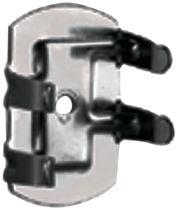 Clips double deux parties Clips métal