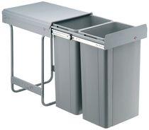 Poubelle coulissante grande contenance 64 litres Pour meuble de 400 mm