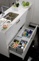 Seau pour poubelle de tiroir à poser