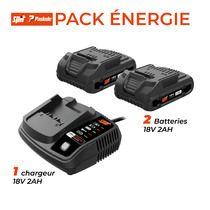 Pack 2 batteries et chargeur 18V