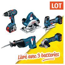 Lot 5 outils sans fil 18 V