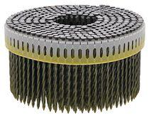Clou rouleau 0° relié bande plastique Finition acier