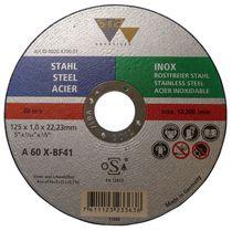 Disque à tronçonner plat acier / inox