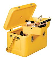 Coffre de chantier jaune polyéthylène rotomoulé sans roues