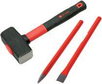 Lot de 3 outils maçon tri-matière