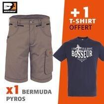 bermuda pyros + 1 tee-shirt offert bermuda pyros + 1 tee-shirt