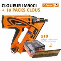 Lot cloueur IM90Ci + 10 packs de clous