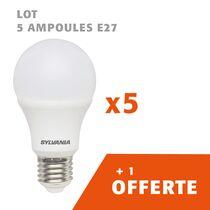 Lot de 5 ampoules E27 + 1 offerte