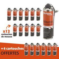 Lot mousse Isol'Flex 12 aérosols + 6 offerts