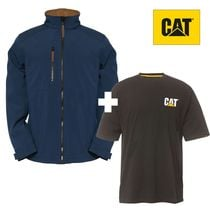 lot 1 veste softshell AG + 1 tee-shirt C324 CAT