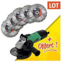 Lot 5 disques diamants probat + 1 meuleuse 125 mm offerte