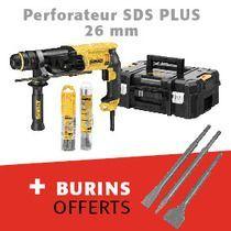 Perforateur SDS PLUS 26mm 25134KP-QS + burins