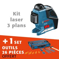 LASER 3 PLANS GLL-380P + SET OUTILS 26 PIECES