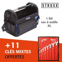 Kit sac à outils Stroxx + jeu de 11 clés mixtes offert