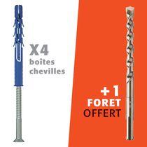 Kit cheville FF8 tête fraisée et foret