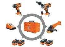 Lot 3 outils sans fil 18V 5,2 Ah