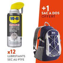 Lot lubrifiant sec au PTFE Lot 12 lubrifiants sec au PTFE + 1 sac randonnée WD-40 offert