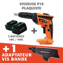Lot visseuse plaquiste 18 V + 1 000 vis