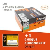 Lot 5 packs clous IM90CI + 1 chèque CHRONOSPIT offert