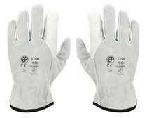 Lot de 10 paires de gants paume fleur/ dos croûte