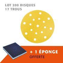 Lot 200 disques 17 trous + 1 éponge offerte
