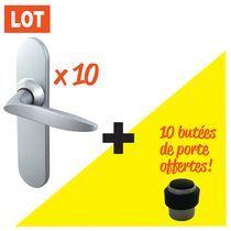 Kit 10 ensembles Twist velours 165 + 10 butées offertes