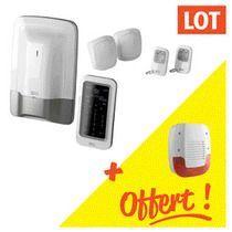 Kit 1 alarme Tyxal + 1 transmetteur + 1 détecteur + 1 sirène gratuite Kit pack alarme Tyxal + transmetteur + détecteur