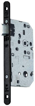 Serrure série D 450 têtière acier noire