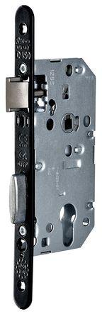 Serrure D 450 axe 45 mm têtière acier noir