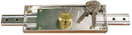 Serrure horizontale pour rideau métallique