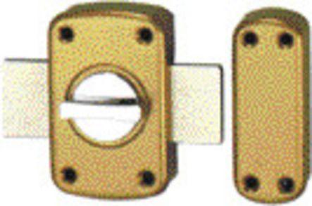 Verrous à bouton intérieur, cylindre Ø 23 mm 10.460.400 LA : paire verrous, cyl. 40 mm, s'EO, 6 clés