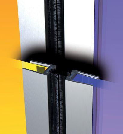 Profilé d'isolation aluminium pour porte en verre