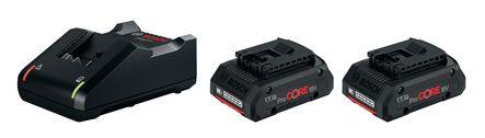 Pack 2 batteries PROCORE 2X18V 4,0 AH + chargeur