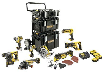 Lot 8 outils XR 18V 5 Ah