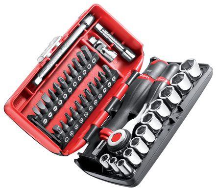 """Coffret vissage et serrage 1/4"""" 38 outils"""