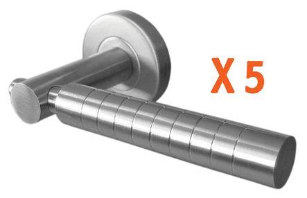 Kit béquille double inox x5